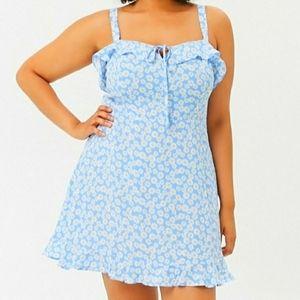 Daisy Print Flounce Dress